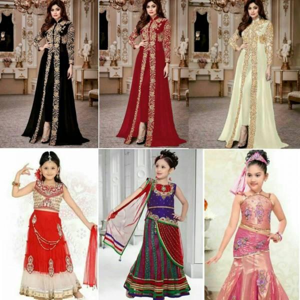 سفارش انواع لباس مردانه /زنانه/بچه گانه لباس هندی
