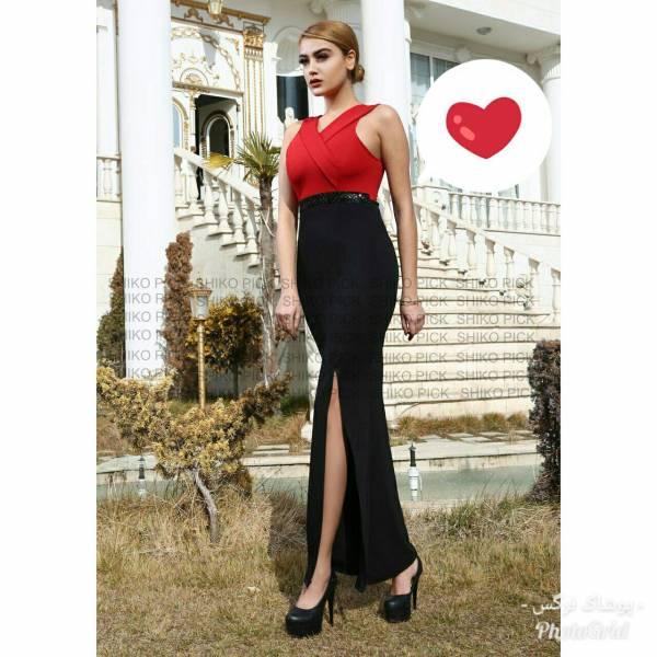 لباس مجلسی بلند مدل جنیفر جنس دیزل رنگبندی مطابق تصویروسایز بندی