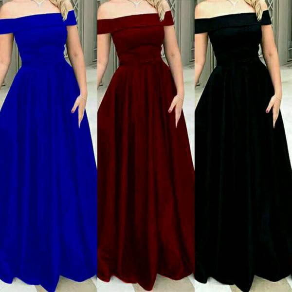 لباس مجلسی شیک ودر سه رنگ وسایز بندی  وجذاب