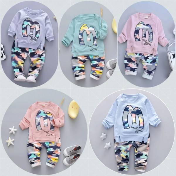 لباس دو تیکه نخی ترک وخیلی شیک در ۵ رنگ زیبا وسایز ۱الی ۳تا۴ سال جنس خوب برای بچه مامانی های خوشکل