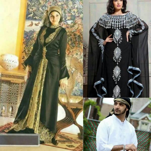 سفارش انواع لباس مردانه /زنانه/بچه گانه لباس عربی
